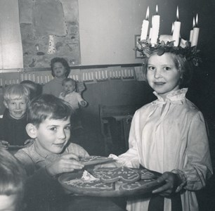 1957 Luciamorgon, Lucia Lena Olsson, Krusagård