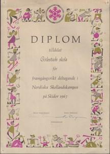 1967 Gödestads skola Diplom