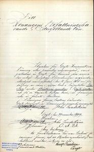 Brev rörande Friden, daterat 29/11 1909