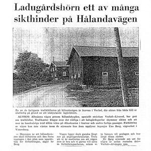 Hålandavägen vid Samuel Olssons i Verle