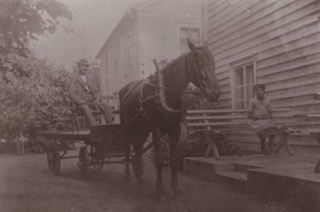 Hällingsfall  Häst och vagn
