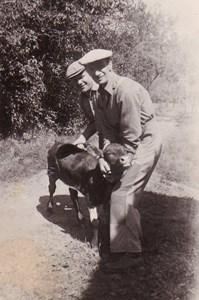 Emil Simonsson med kalv