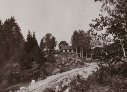 Vägbygge vid Domarvik  1930