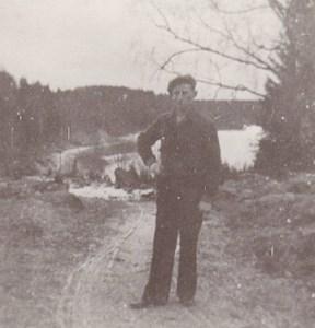 Josef på vägen vid Domarvik