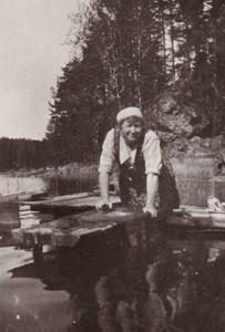 Tvätt i Grävsjön vid Domarvik