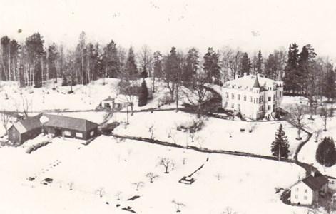 Vinter vy över Hägerstad slott