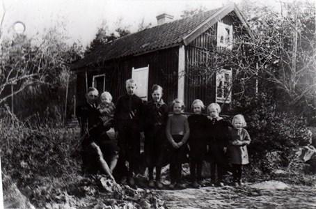 Familjen Andersson i Paris Härad 1940