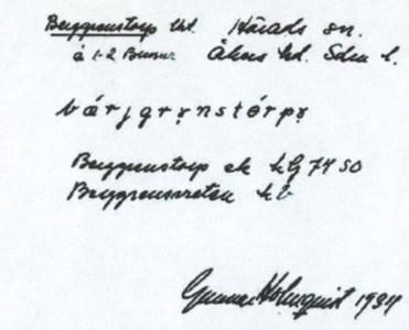 Berggrensvreten 1934