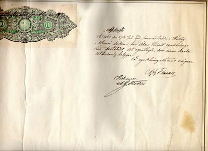 Gredby karta 1860B