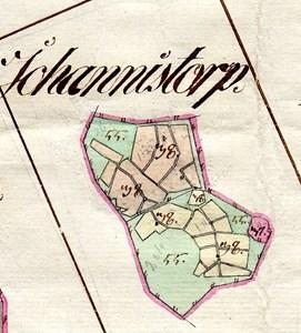 Johannistorp karta 1801