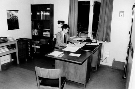 Årby Såg #12 Sven Mattsson på kontoret