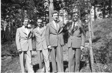 Rune Lundgren Ingvar Weinfors Börje Lundgren Ebbe Weinfors 1949