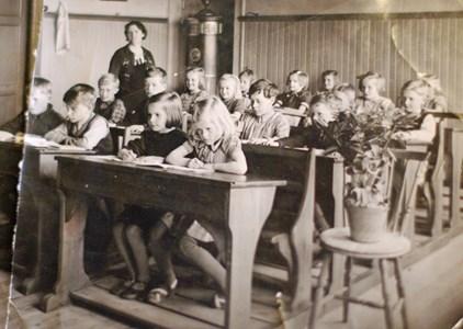 Skolklass Hillerstorp 1942