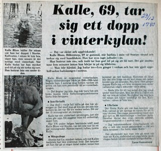 Vinterbadaren Kalle Blom
