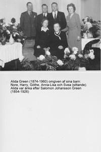Alida Green med familj