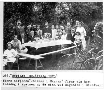 0266 Hägnaden, Bladåker. Jan Olof Janssons 80-årsdag 1923.jpg