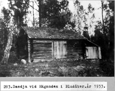 0283 Hägnaden, Bladåker. Smedja 1933.jpg