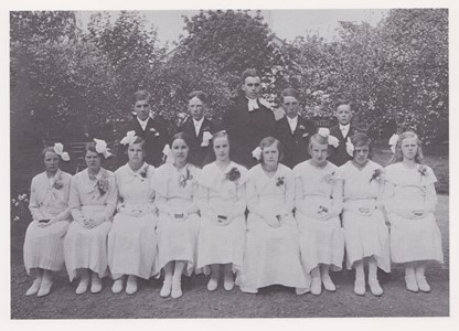 Konfirmander 1933 Lemnhultsgruppen