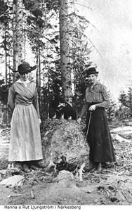 Hanna och Rut Lungström i Toltorp Närkesberg