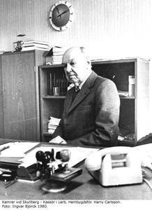 Kamrer vid Skyllbergs Bruk - Kassör i Lerb. Hembygdsför. Harry Carlsson, år 1980