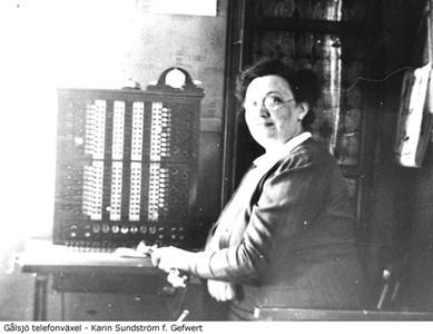 Telefonväxel, Karin Sundström.