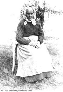Fia i Kula. Stensätter, Närkesberg år 1935