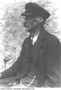 """Gustav """"Hildor"""" Lindqvist i Stensätter  år 1936"""
