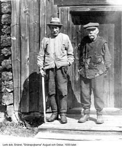 Snårapojkarna August och Oskar Larsson, 1930-talet
