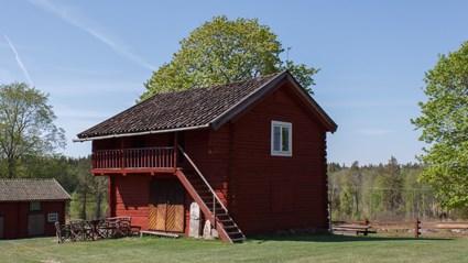 Loftboden vid Lerbäcks hembygdsgård