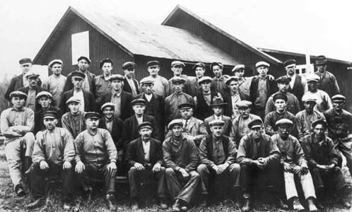 Personal vid Rönneshytta sågverk 1935