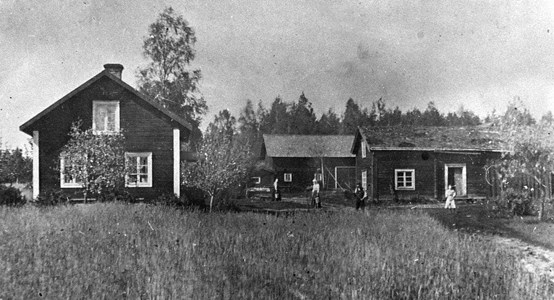 Stensätter i Närkesberg, Lindqvists gård ca 1920-tal