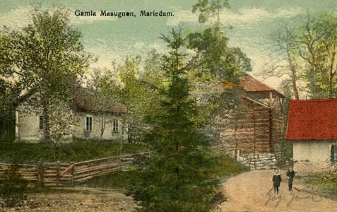 Mariedamm. Trehörnings masugn och Labbit ca. 1908