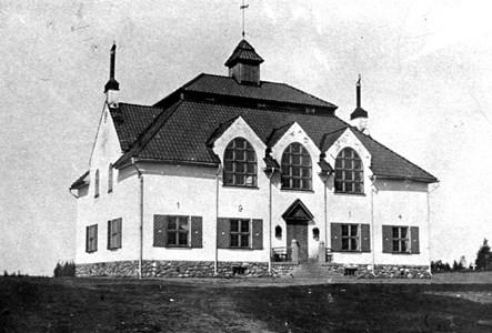 Lerbäcks kommunalhus. Byggt 1914. Nuvarande församlingsgården.