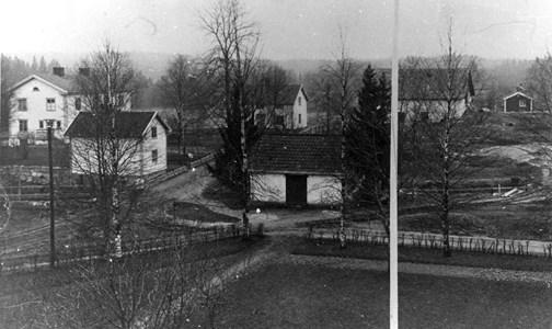 Åsbro. Utsikt från Åsbrohemmet år 1934.