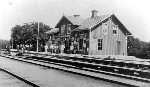 Lerbäcks järnvägsstation år 1908