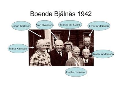 Boende Bjälnäs 1942 delbild a