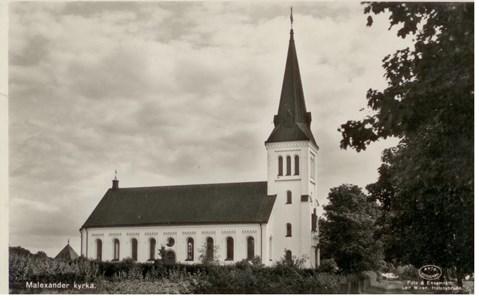 Malexander Kyrka från norr år19...
