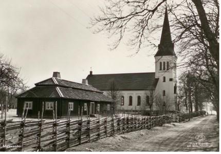 Malexander Kyrka och Birgittastugan år 19 ...