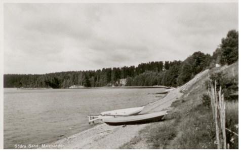 Malexander Stranden Vykort 1955