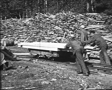 Malexander sågverk vid sjön