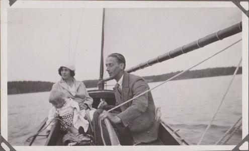 Nils Borg o Hildur Borg dotter till Matilda Blom med barn