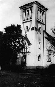 Malexanders Kyrka efter branden 10/2-1929