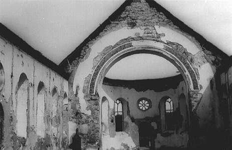 Malexander Kyrka efter branden 10/2-1929