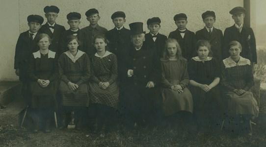 Konfirmation i Marbäcks kyrka 1920