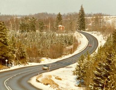 Riksvägen förbi Mantorp
