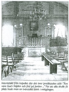 Interiörbild kapellet