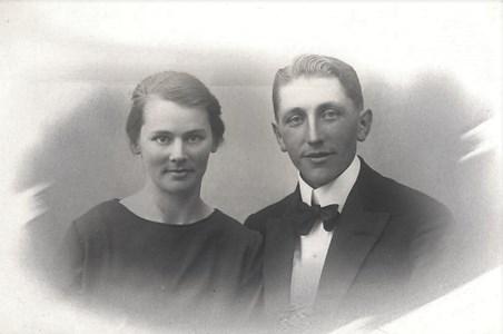 Paret Sandberg i unga år