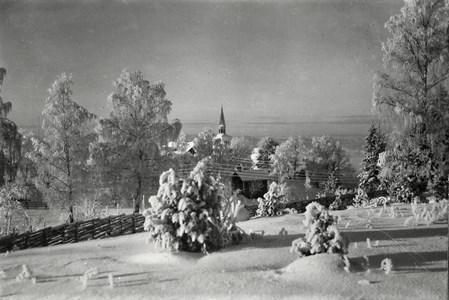 Vintervy från Bygdegården
