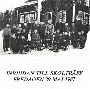 Skolträff inbjudan 1987