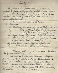 Arvskifte 1930